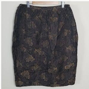 Ralph Lauren Black Label Jacquard Skirt
